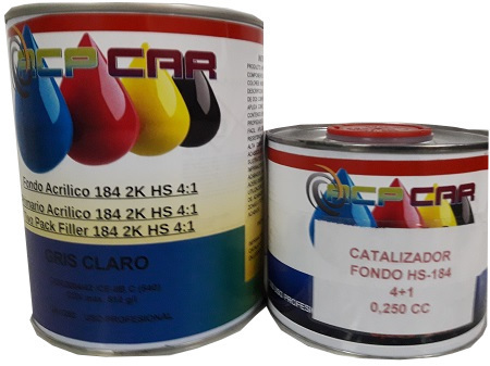 KIT FONDO HS-184 4+1 BLANCO + CATALIZADOR 1,250  LTS